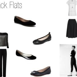 Black Ballet Flats