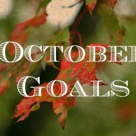 October Goals + Giveaway Winner!
