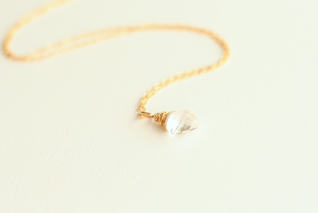A gorgeous rock crystal necklace that glitters and glistens.