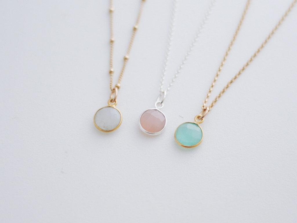 solo birthstone necklace