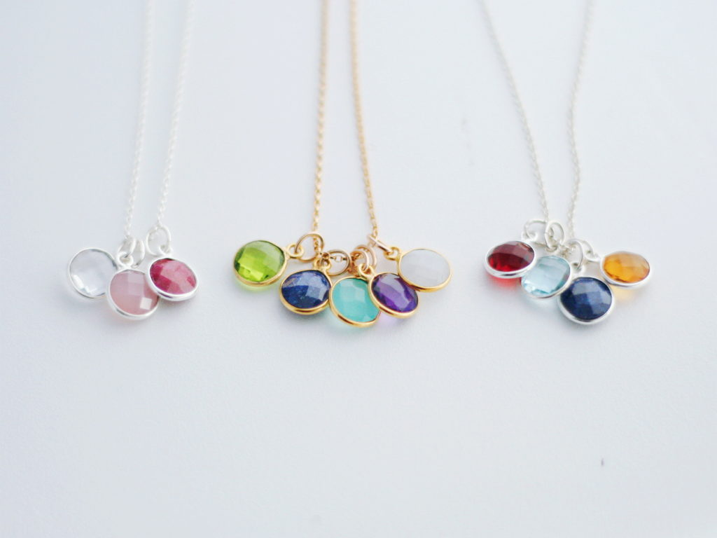 multiple birthstone necklace for mothers and grandmothers